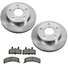 94-99 Dodge Ram 1500 w/4WD & RWAL Front METALLIC Brake Pad & Rotor Kit