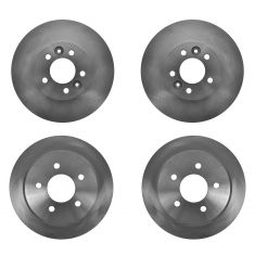 98-02 Crown Victoria, Grand Marquis, Town Car Brake Rotor Front & Rear Brake Rotor Kit (Set of 4)
