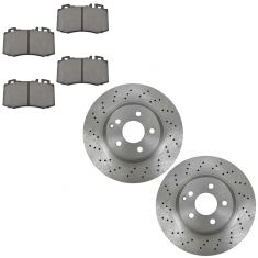 00-02 MB CL500; S430, S500 exc AWD Front METALLIC Brake Pads & Rotor Kit