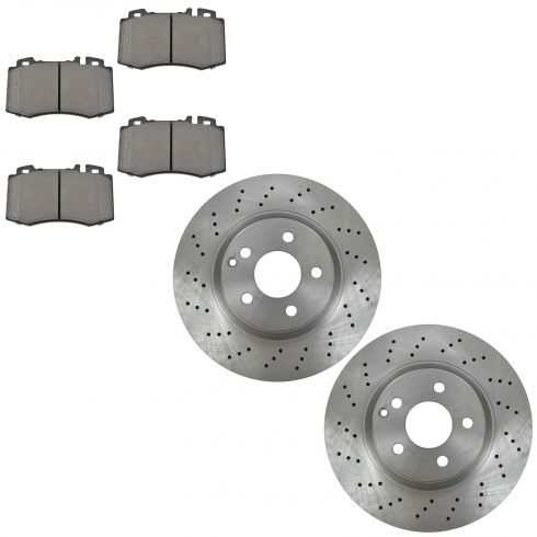 Mercedes benz cl500 brake pads rotors replacement for Mercedes benz rotors and pads