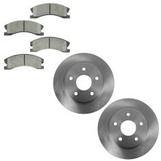99-04 Jeep Grand Cherokee with Akebono Calipers Front CERAMIC Brake Pad & Rotor Kit