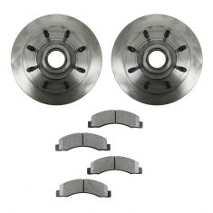 03-04 Ford Excursion Front METALLIC Brake Pad & Rotor Kit