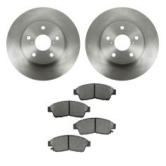 96-00 Toyota Rav4 Front SEMI-METALLIC Brake Pad & Rotor Kit