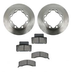 90-00 Chevy, GMC K3500; 94-99 Dodge Ram 1500, 2500 Front METALLIC Brake Pad & Rotor Kit