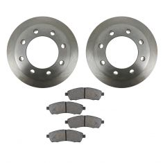 00-05 Ford Excursion; 99-04 F250SD, F350SD w/SRW Rear METALLIC Brake Pad & Rotor Kit