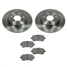 08-12 Town & Country, Grand Caravan; 09-12 Journey, Routan Rear METALLIC Brake Pad & Rotor Kit