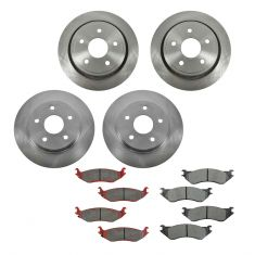 03-05 Dodge Ram 1500 (Exc SRT-10); 03 Ram Van 1500 Front & Rear METALLIC Brake Pad & Rotor Kit