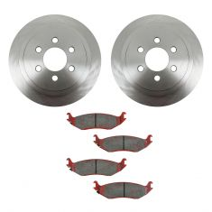 03 Dodge Durango Rear METALLIC Brake Pad & Rotor Kit