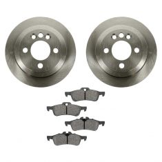 02-06 (thru 7/11/06) Mini Cooper S Rear METALLIC Brake Pad & Rotor Kit