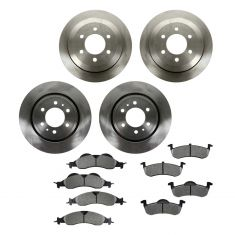 07-10 Ford Expedition, Lincoln Navigator Front & Rear METALLIC Brake Pad & Rotor Kit