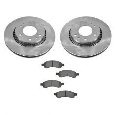 06-07 Ranier; 06-09 Trailblazer, Envoy; 07-08 Ascender 4.2L Front METALLIC Brake Pad & Rotor Kit