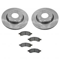 06-07 Ranier; 06-09 Trailblazer, Envoy; 07-08 Ascender 4.2L Front CERAMIC Brake Pad & Rotor Kit