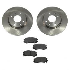 03-05 Hyundai Sonata; 03-06 Kia Magentis; 02-06 Optima Front METALLIC Brake Pad & Rotor Kit