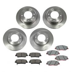 07-08 Hyundai Entourage; 06-12 Kia Sedona Front & Rear CERAMIC Brake Pad & Rotor Kit