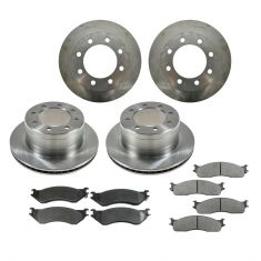 06-08 Ram 1500 Mega Cab; 03-08 2500, 3500 Front & Rear CERAMIC Brake Pad & Rotor Kit
