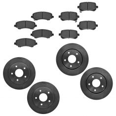 08-10 Town & Country, Grd Caravan; 09-10 Journey; 11 Routan Front/Rear CERAMIC Brake Pad & Rotor Kit