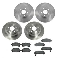 98-02 Subaru Forester; 99-01 Impreza Front & Rear CERAMIC Brake Pad & Rotor Kit