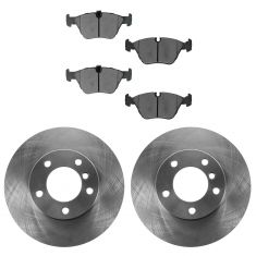 01-03 BMW 525i; 97-00 528i; 99-00 528iT Front Semi Metallic Brake Pad & Rotor Kit
