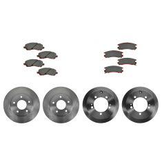 01-05 Sebring, Stratus, Eclipse; 01-03 Galant Front & Rear Brake Rotor & Ceramic Pad Kit