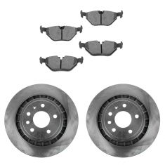 02-09 Saab 9-5 299mm Vented Rear Disc Brake Rotor & Ceramic Pad Set