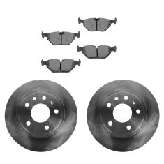99-09 Saab 9-5 286mm Solid Rear Disc Brake Rotor & Ceramic Pad Set