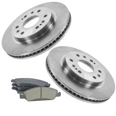 08-13 Chevy GMC Full Size Pickup; SUV Front Premium Posi Ceramic Brake Pads & Rotors