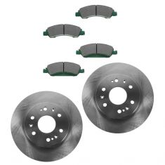 08-13 Chevy GMC Full Size Pickup; SUV Front Ceramic Brake Pads & Rotors