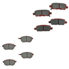 03-05 FX35, FX45; 05-06 Altima; 04-08 Maxima; 03-13 Murano Front & Rear Ceramic Disc Brake Pad Kit