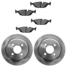 84-91 BMW 3 Series Rear Disc Brake Rotor & Metallic Brake Pad Kit