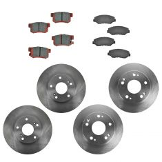 03-07 Honda Accord 2.4L Front & Rear CERAMIC Disc Brake Pad & Rotor Kit