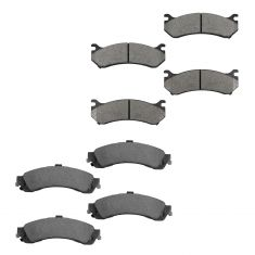 99-07 GM Full Size Truck Professional Grade Ceramic Front & Rear Brake Pad Kit