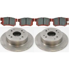 97 Acura CL; 91-97 Honda Accord Rear CERAMIC Brake Pad & Rotor Kit