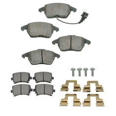 Audi, VW Multifit Front & Rear Semi-Metallic Disc Brake Pads Kit