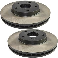 92-04 Camry, Avalon, ES300; 98-03 Sienna Fr E-Coated Brake Rotor Pair