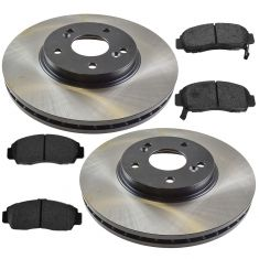 01-03 CL; 99-08 TL; 03-07 Accord V6 MT Front Posi Semi Metallic Pads & E-Coated Rotor Set