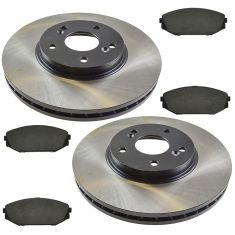 01-02 MDX; 99-04 Odyssey Front Posi Ceramic Pads & E-Coated Rotor Set