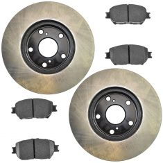 02-04 Camry; 05-06 Camry L4 Front Posi Ceramic Pads & E-Coated Rotor Set