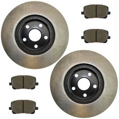 03-08 Vibe; 03-08 Corolla; 03-08 Matrix Front Posi Ceramic Pads & E-Coated Rotor Set