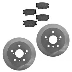 07-12 ES350; 08-12 Avalon; 07-11 Camry Rear Posi Semi Metallic Pads & E-Coated Rotor Set