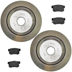 10-13 RDX; 05-13 CRV Rear Posi Ceramic Pads & E-Coated Rotor Set