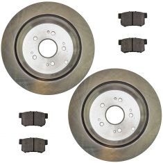10-13 RDX; 05-13 CRV Rear Posi Semi Metallic Pads & E-Coated Rotor Set