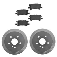 04-06 RX330; 07-09 RX350; 06-08 Rx400h; 04-07 Highlander; Rear Posi Ceramic Pads & ECoated Rotor Set