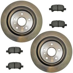 02-06 Camry Vin 4; 05-07 Avalon; 04-08 Solara Rear Posi Semi Metallic Pads & E-Coated Rotor Set
