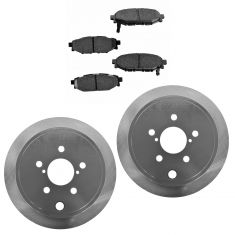 09-13 Forester;08-13 Impreza;10-13 Legacy;10-13 Outback Rear Posi Ceramic Pads & E-Coated Rotor Set