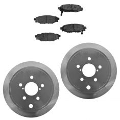 09-13 Forester;08-13 Impreza;10-13 Legacy;10-13 Outback Rear Posi Semi Met Pads & E-Coated Rotor Set