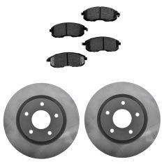 07-12 Altima; 13 Altima Coupe; 07-11 Altima H Front Posi Semi Metallic Pads & E-Coated Rotor Set