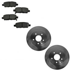 06-13 Nissan 350Z/370Z; Infiniti Multifit Rear Disc Brake Rotor Semi-Met Brake Pad KIT