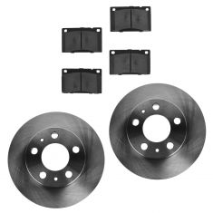 75-93 Volvo Multifit Front METALLIC Brake Pad & Rotor Kit