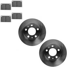 75-93 Volvo Multifit Front CERAMIC Brake Pad & Rotor Kit