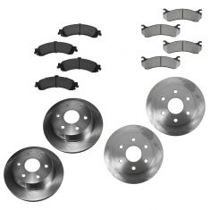 02-05 GM Full Size Truck Front & Rear Rotors Set w/Semi-Metallic Pads